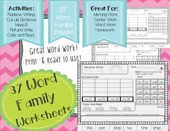 Working with Word Families