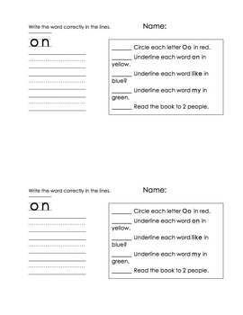 37 sight word readers (37 student and 37 teacher copies)