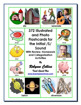 372 Illustrated and Photo Flashcards for the Initial /S/ Sound Workbook