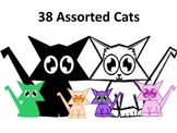 38 Assorted Cats with Transparent Backgrounds