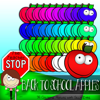 Apples Colorful Clipart{The Teacher Stop}