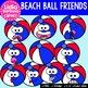 38 Beach Ball Friends- Digital Clipart