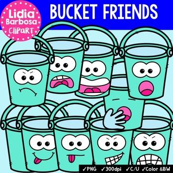 38 Bucket Friends- Digital Clipart