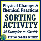 38 Examples Physical and Chemical Changes Sorting Activity NGSS MS-PS1-2