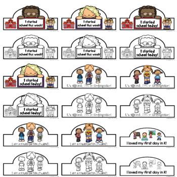 38 Kindergarten First Day of School Crowns