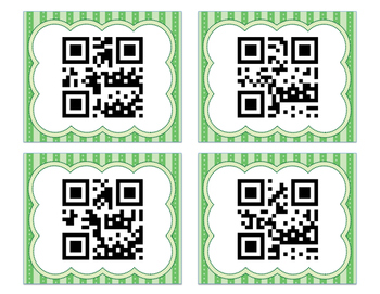 High Frequency Sight Word QR Codes with Recording Sheet