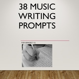38 Music Themed Writing Prompts for Grades 7-12