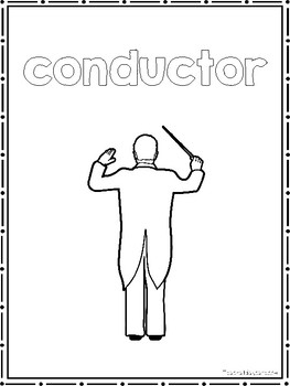 38 Orchestra Instruments Color Sheets. Preschool-2nd Grade Music.