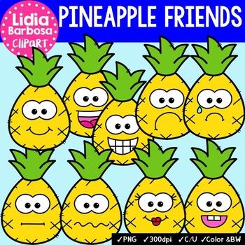 38 Pineapple Friends- Digital Clipart