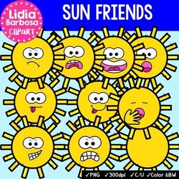 38 Sun Friends- Digital Clipart