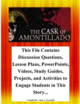 The Cask of Amontillado By Edgar Allan Poe Teacher Supplemental Resources