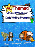 40 Themed Journal Weeks of Daily Writing Prompts