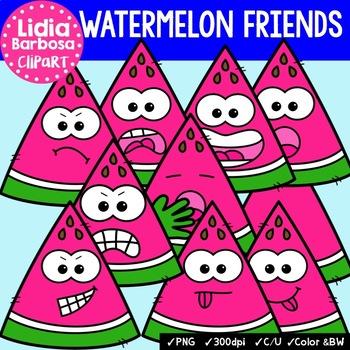 38 Watermelon Friends- Digital Clipart