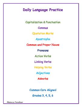 38 Weeks of Daily Language Practice & 35 Grammar Worksheets Bundled