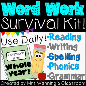 1st Grade Word Work Bundle!!! WHOLE YEAR!!! No Prep!!!
