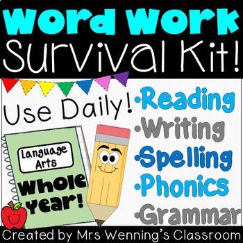 Weekly ELA Word Work Survival Kit!!! WHOLE YEAR!!!