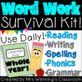 Weekly ELA Word Work Survival Kit!!! WHOLE YEAR!!!