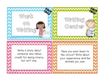 38 Work on Writing Center Task Cards - Pack TWO
