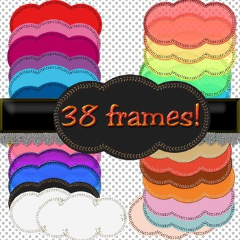 FRAMES. 38 color frames! for personal or commercial use