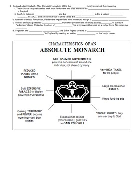 UNIT 7 LESSON 3. Absolute Monarchs GUIDED NOTES