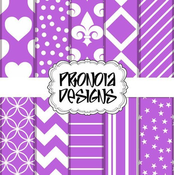 39 Bold Woodland Violet Background Papers & Textures