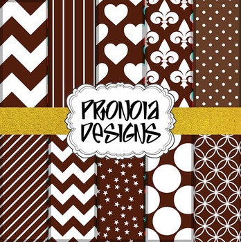 34 Chocolate Latte Brown Background Papers & Textures