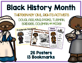 96 Civil Rights Posters & Bookmarks - Black History Month Packet
