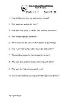 39 Clues: Maze of Bones Reading Comprehension Questions