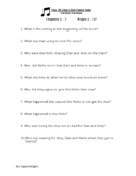 39 Clues:  One False Note Reading Comprehension Questions