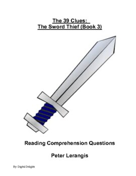 39 Clues: The Sword Thief, Reading Comprehension Questions