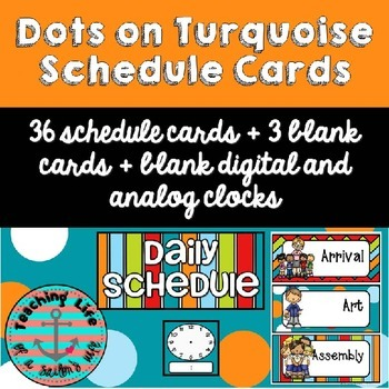 Dots on Turquoise Daily Schedule Cards