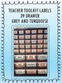 39 Drawer Toolkit Labels