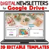 39 EDITABLE classroom NEWSLETTER templates for Google Drive™ CHRISTMAS