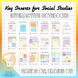 39 Key Inserts for Social Studies Interactive Notebooks (E