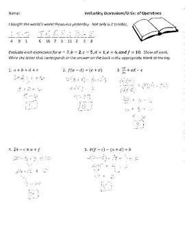 39 pre algebra and algebra joke worksheets with answer keys by plant problems. Black Bedroom Furniture Sets. Home Design Ideas