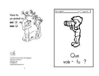 39) Que vois-tu? - livret de lecture ENFANT C1 1ère-2e