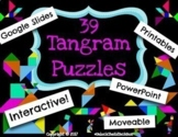 39 Digital Moveable Tangram Puzzle Activities STEM Team Building Math