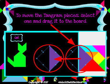 39 Digital Moveable Tangram Puzzle Activities STEM Team Building Math