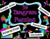 39 Digital Moveable Tangram Puzzle Activities STEM Team Bu