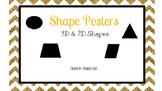 3D & 2D Shape Posters