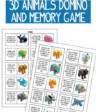 3D Animals - Memory and Domino game. 2 games in the produc