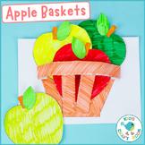 3D Apple Basket Craft - Autumn Cut and Paste Activity