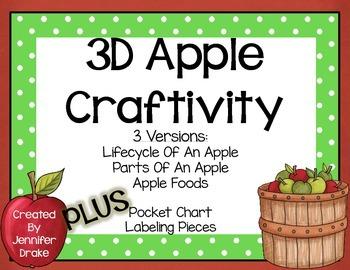 3D Apple Craftivity