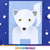 3D Arctic Fox craft