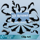 3D Arrows in black and in white