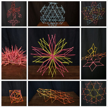 3D Art Lesson - Linear Sculptures - Toothpick Sculptures - Culminating Project