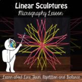3D Art Lesson - Linear Sculptures - Toothpick Sculptures -