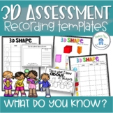 3D Assessment Grid and Notebook with QR codes