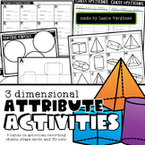 3D Attribute Activities