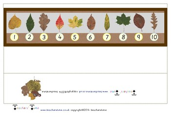 3D Autumn Themed Number Line